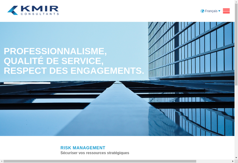 Capture d'écran du site de Kmir Consultants