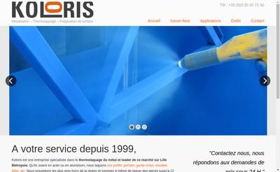 Site internet de Koloris