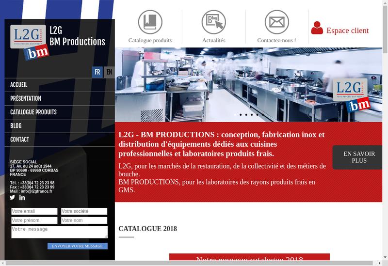 Capture d'écran du site de La Generale de Gastronomie, Reminox, B
