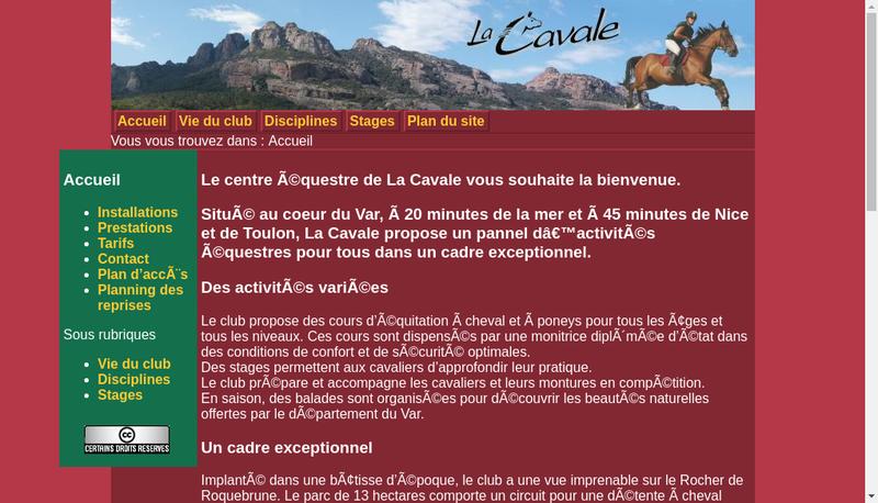 Capture d'écran du site de Auberge St Pierre