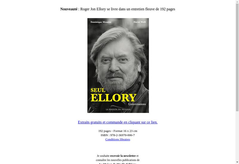 Capture d'écran du site de La Maison du Moulin Editions