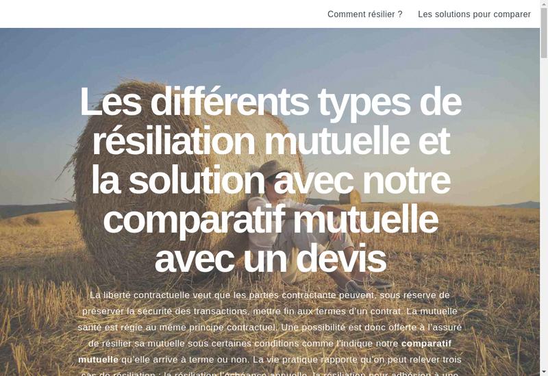 Capture d'écran du site de La Pessiere