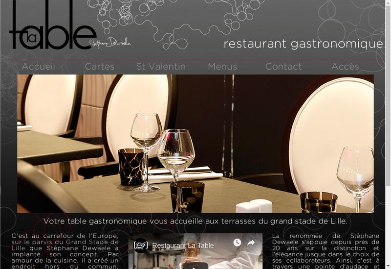Capture d'écran du site de La Table