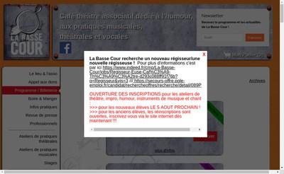 Site internet de La Basse Cour