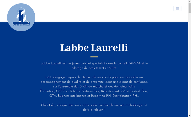 Capture d'écran du site de Labbe Laurelli
