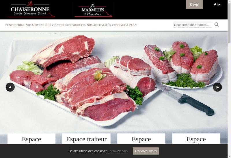 Capture d'écran du site de La Chaiseronne