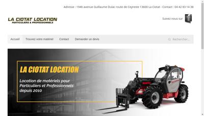 Capture d'écran du site de La Ciotat Location