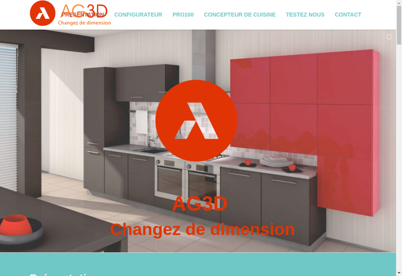 Capture d'écran du site de L'Agence 3D