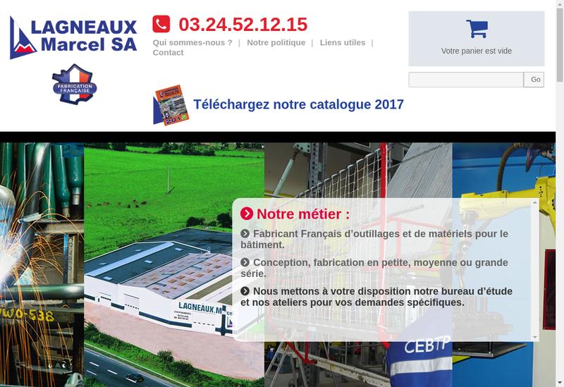 Capture d'écran du site de Lagneaux Marcel SA