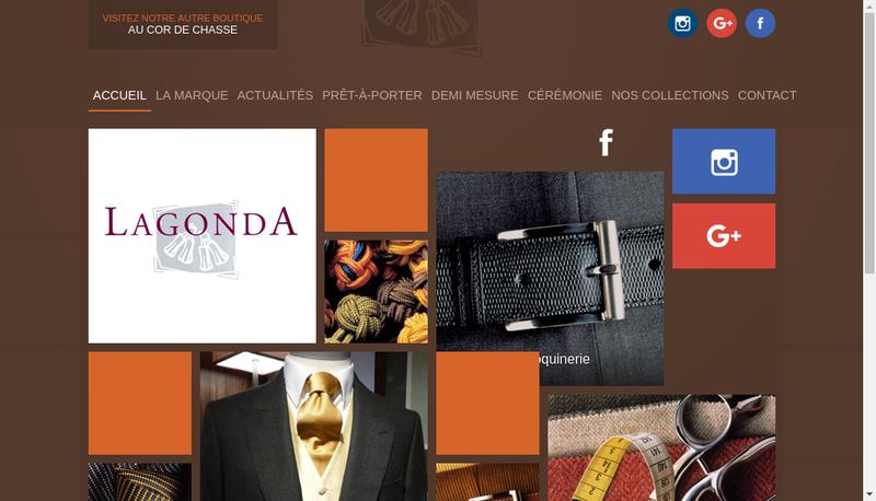 Capture d'écran du site de Lagonda