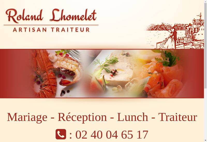 Capture d'écran du site de La Gourmandise