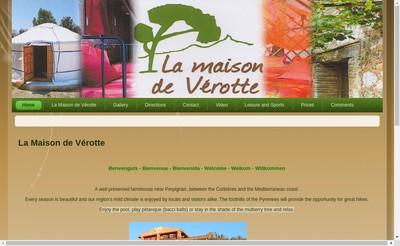Site internet de La Maison de Verotte