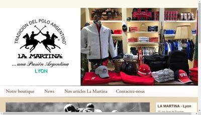 Capture d'écran du site de Elamartia