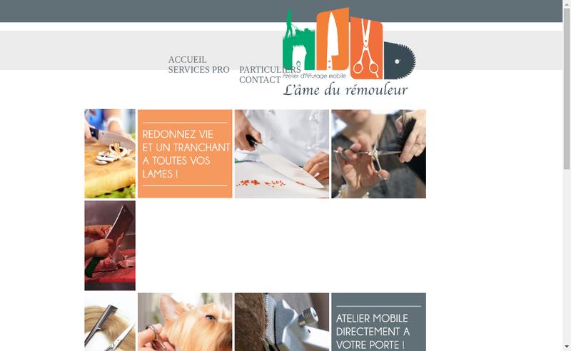 Capture d'écran du site de L'Ame du Remouleur