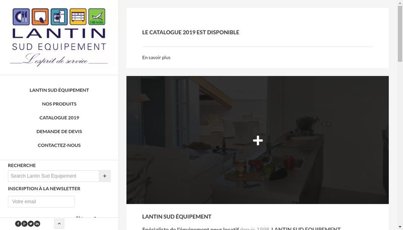Capture d'écran du site de Lantin Sud Equipement