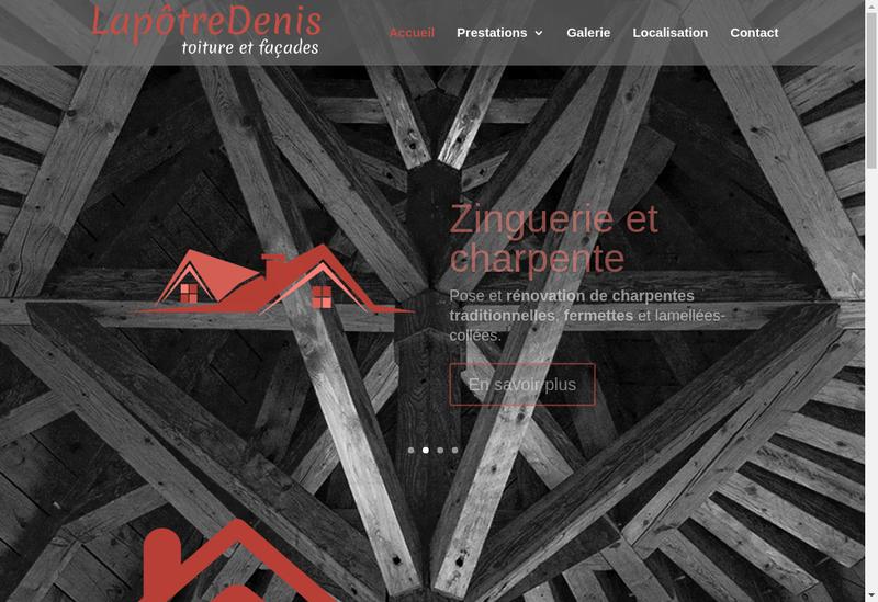 Capture d'écran du site de Lapotre Denis SARL