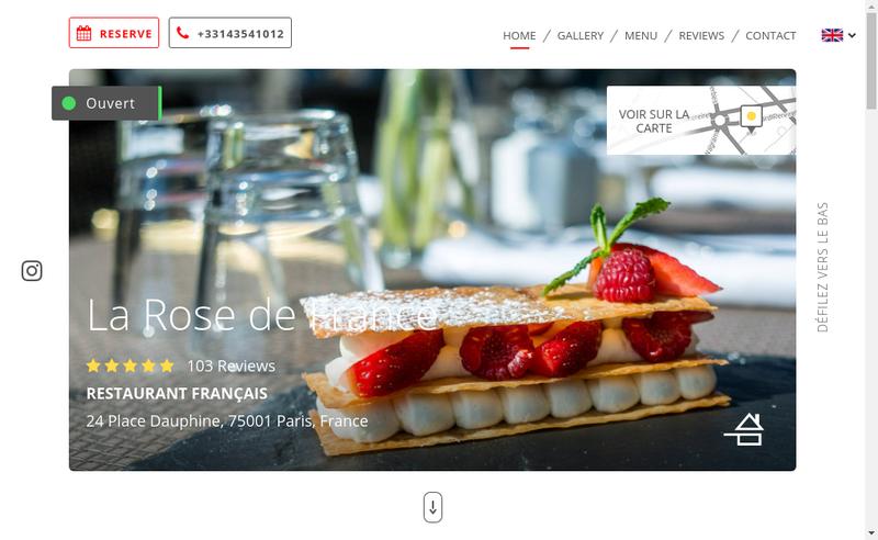 Capture d'écran du site de Rose