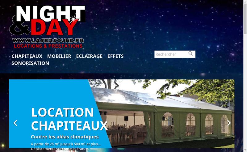Capture d'écran du site de Laser Sound Evenementiel