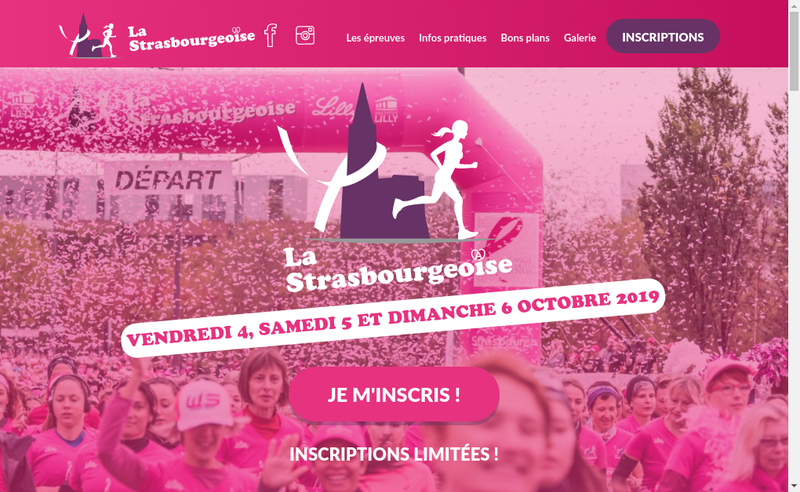 Capture d'écran du site de Strasbourgeoise
