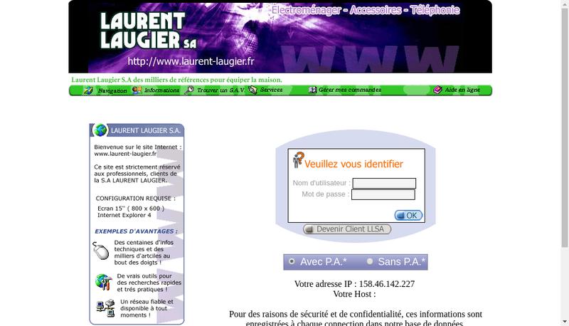 Capture d'écran du site de Laurent Laugier SAS