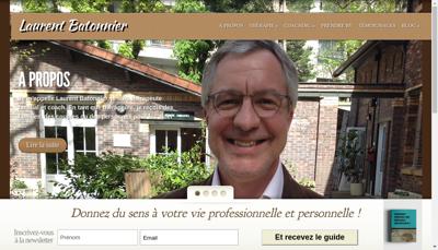 Capture d'écran du site de Laurent Batonnier Coaching