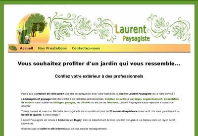 Capture d'écran du site de SARL Laurent
