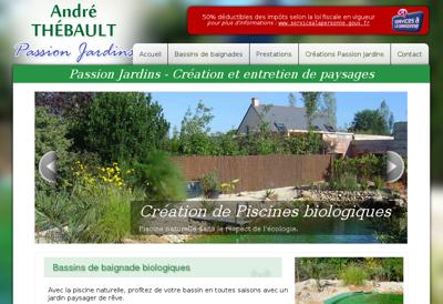 Capture d'écran du site de Lbe-Fluides