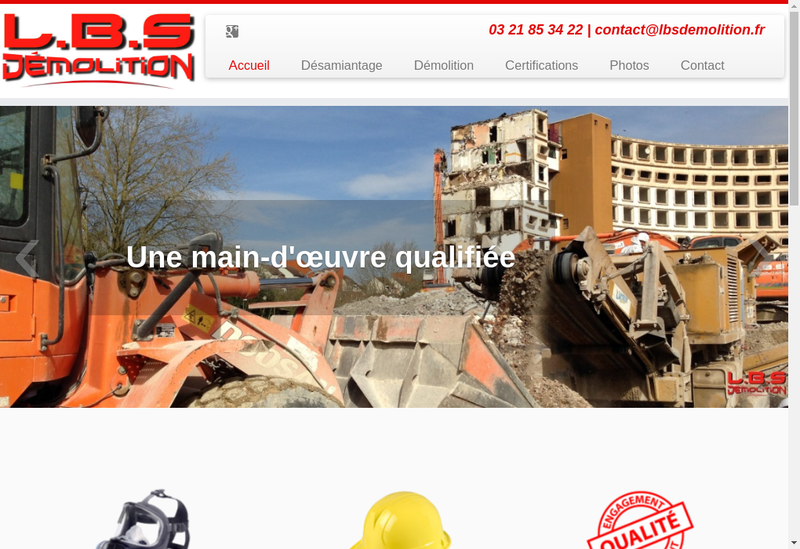Capture d'écran du site de Littoral Bois Service