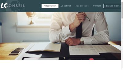 Capture d'écran du site de Lc Conseil