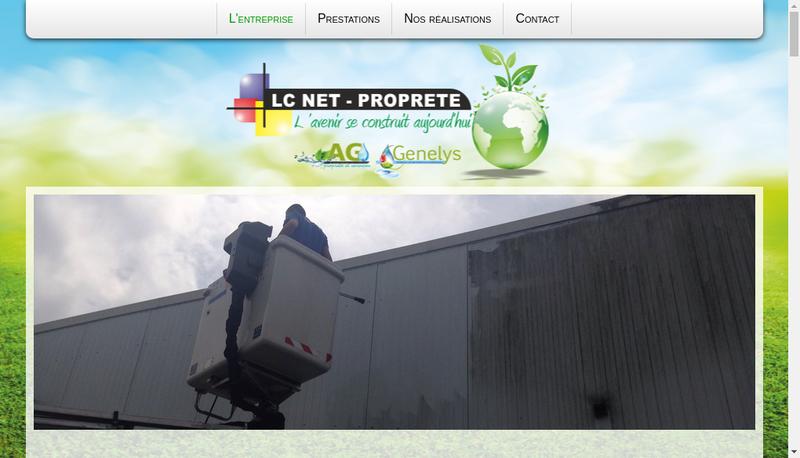 Capture d'écran du site de Lc Net Proprete