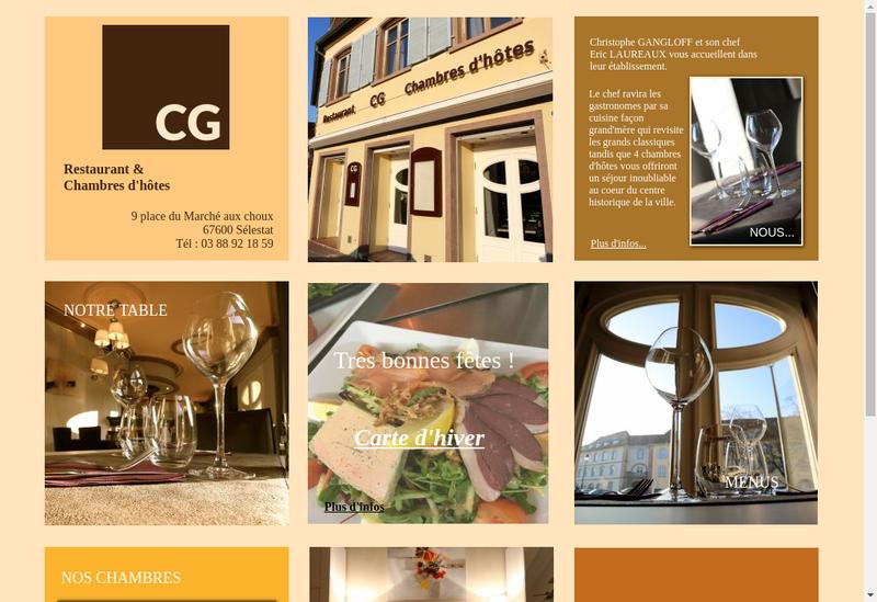 Capture d'écran du site de Restaurant le Cg