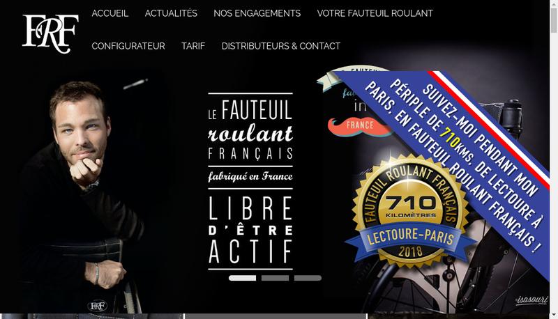 Capture d'écran du site de Le Fauteuil Roulant Francais