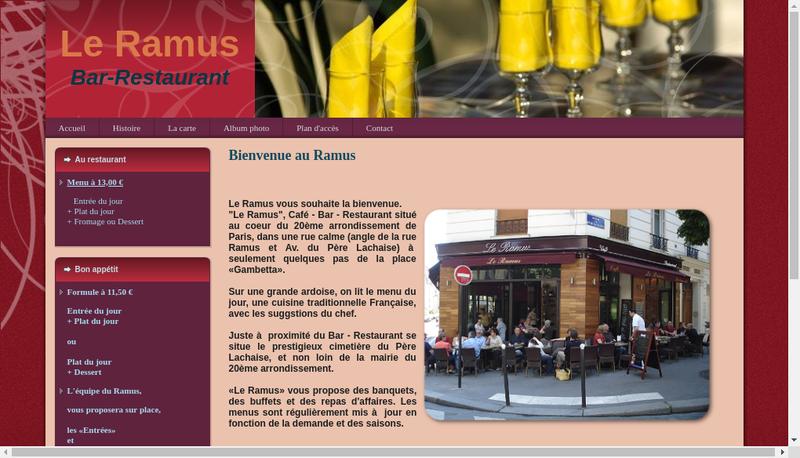 Capture d'écran du site de Le Ramus