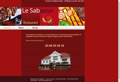 Site internet de Le Sabayon
