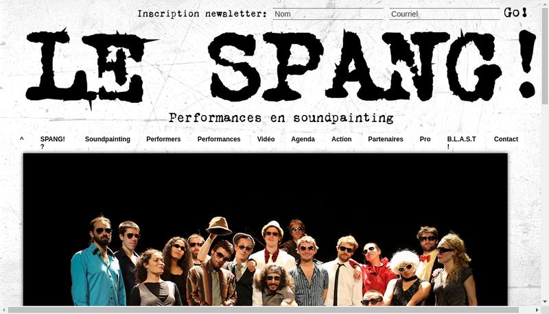 Capture d'écran du site de Brigade Lyonnais Soundpainting Transdi