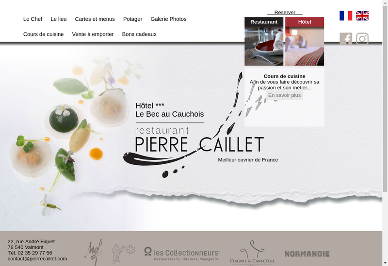 Capture d'écran du site de Le Bec au Cauchois