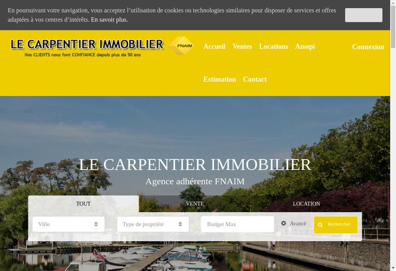 Capture d'écran du site de Cabinet le Charpentier