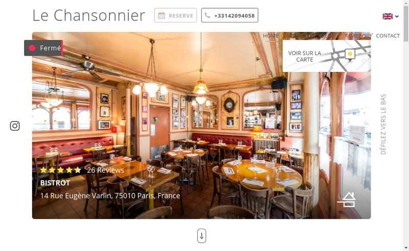 Capture d'écran du site de Le Chansonnier