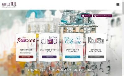 Site internet de Le Petit Chou - le Chou Rouge