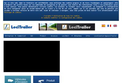 Capture d'écran du site de Lecitrailer France