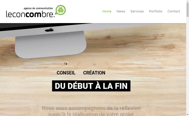 Capture d'écran du site de Leconcombre