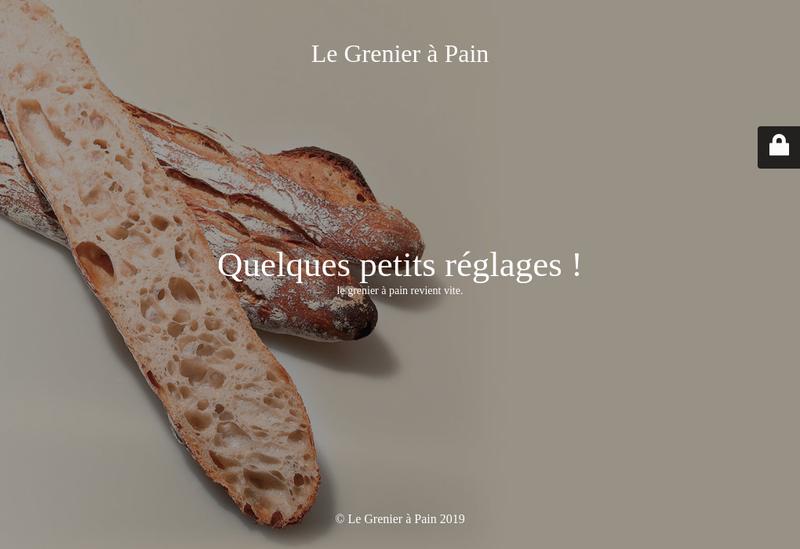 Capture d'écran du site de Le Grenier à Pain