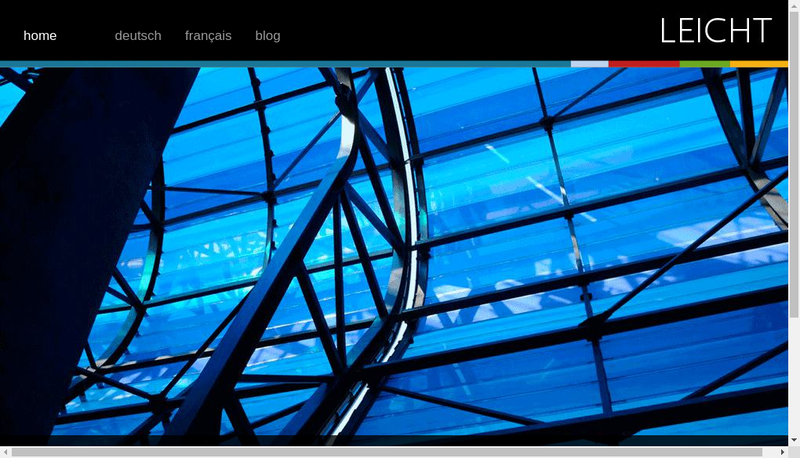 Capture d'écran du site de Leicht France