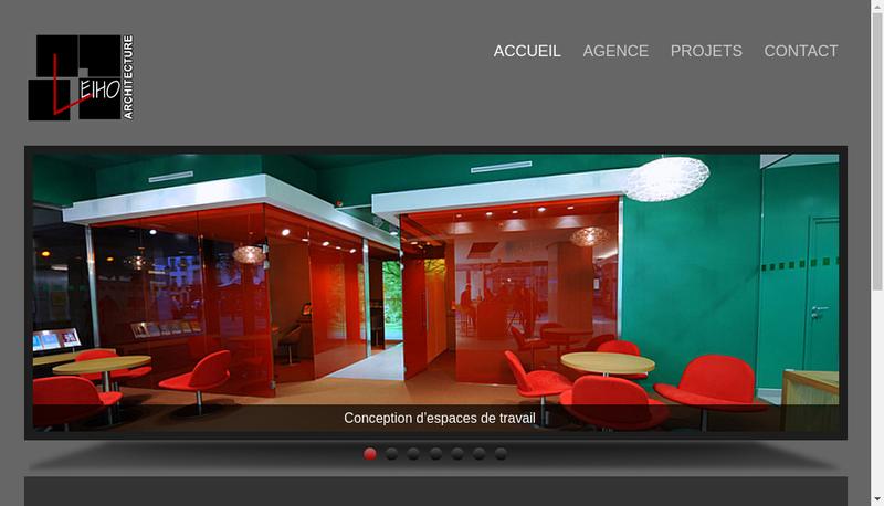 Capture d'écran du site de Leiho-As2E Atelier Architecture