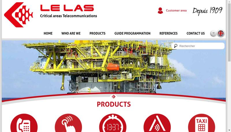 Capture d'écran du site de Telephones le Las