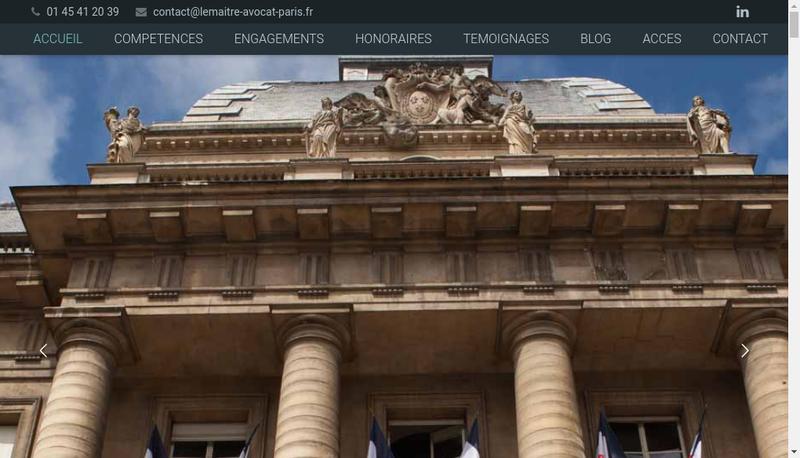 Capture d'écran du site de Entreprise Bernard Lemaitre