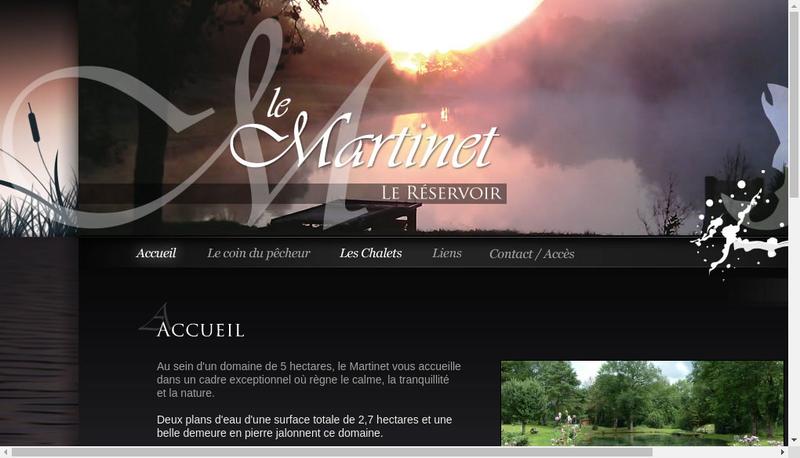 Capture d'écran du site de Domaine du Martinet