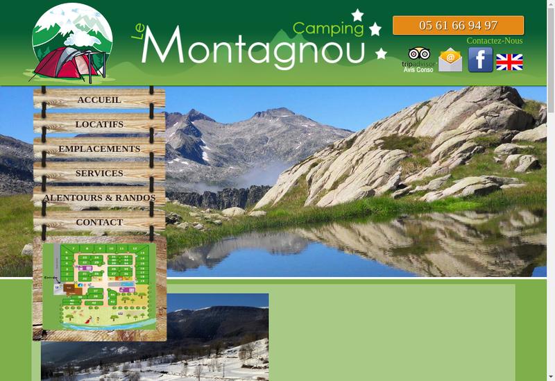 Capture d'écran du site de CAMPING LE MONTAGNOU