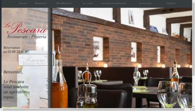 Capture d'écran du site de SARL le Pescara