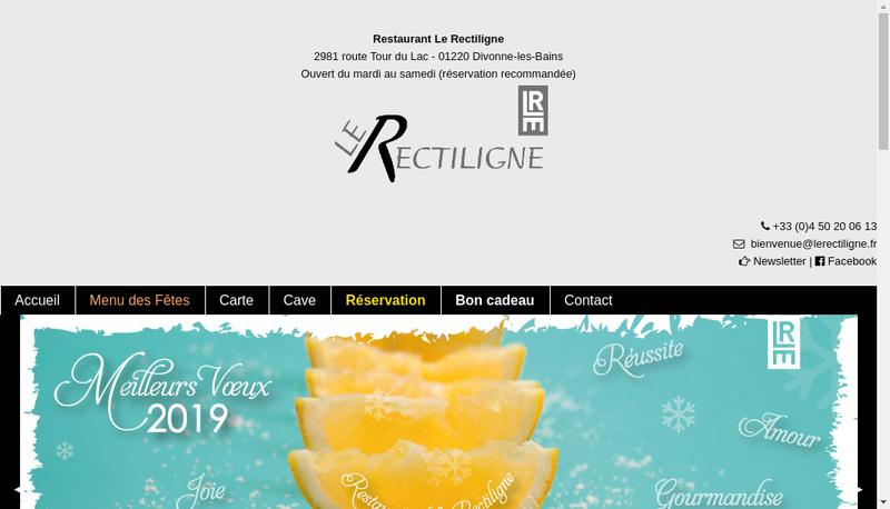 Capture d'écran du site de Le Rectiligne